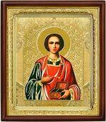 Пантелеймон, икона в деревянной рамке (Д-18пс-48)