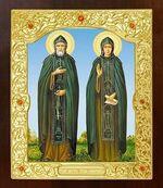Петр и Феврония. Икона в окладе средняя (Д-21-49)