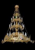 Паникадило К-У-03-36(№ 49), 3-ярусное на 36 свечей, с хоросом и лампадами