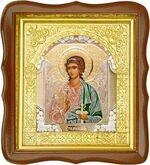 Ангел Хранитель, средняя аналойная икона, фигурный киот (Д-17фс-05)