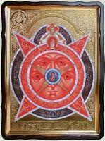 Всевидящее око, в фигурном киоте, с багетом. Храмовая икона 80 Х 110 см.