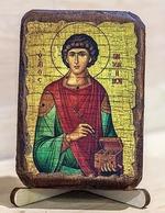 Пантелеймон, икона под старину, сургуч (8 Х 10)