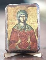 Марина, Св.Муч., икона под старину, сургуч (8 Х 10)