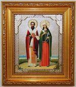 Киприан и Устинья, Икона в багетной рамке 14 Х 16