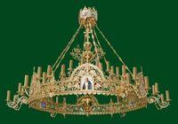Паникадило (№ 51), 1-ярусное (24 свечи), с хоросом на 24 свечи.
