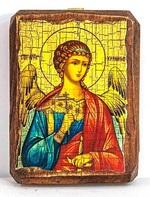 Ангел Хранитель, икона под старину, на дереве (8x10)