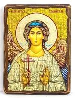 Ангел Хранитель, икона под старину, на дереве (17х23)