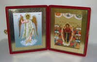 Складень бол.карт.(Ангел Хранитель ростовой, Всех скорбящих Радость, с грошиками (2)