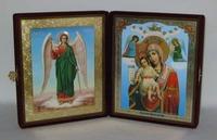Складень бол.карт.(Ангел-Хранитель ростовой (2), Достойно есть (2)