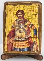 Артемий, икона под старину, сургуч (8 Х 10)