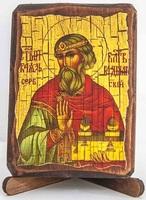 Владислав Сербский, икона под старину, сургуч (8 Х 10)
