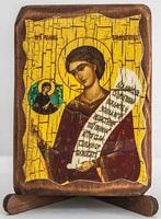 Роман Сладкопевец, икона под старину, сургуч (8 Х 10)