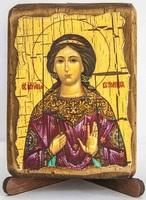Вероника, Св.Муч., икона под старину, сургуч (8 Х 10)