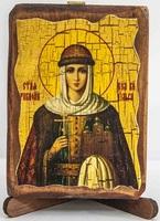 Ольга, Св.Княгиня, икона под старину, сургуч (8 Х 10)