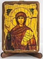 Анна Св. Пророчица, икона под старину, сургуч (8 Х 10)