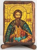 Вячеслав Чешский, икона под старину, сургуч (8 Х 10)