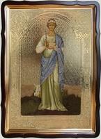 Елена,Св.Р.Ап., в фигурном киоте, с багетом. Храмовая икона 60 Х 80 см.