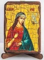 Ирина, Св.Муч., икона под старину, сургуч (8 Х 10)