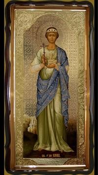 Елена, Св. Равноап. (рост), в фигурном киоте, с багетом. Большая Храмовая икона 60 Х 114 см.