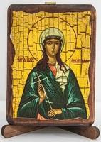 Иулия Анкирская, Св.Мч., икона под старину, сургуч (8 Х 10)