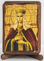 Людмила, Св.Мч., икона под старину, сургуч (8 Х 10)