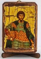 Феодор Стратилат Вмч., икона под старину, сургуч (8 Х 10)