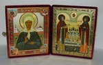 Складень бол.карт.(Матрона с клеммами (3), Петр и Феврония (2)