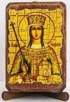 Тамара, Св.Муч., икона под старину, сургуч (8 Х 10)