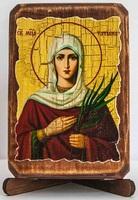 Татьяна, Св.Муч., икона под старину, сургуч (8 Х 10)
