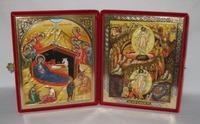 Складень бол.карт.(Рождество Христово (39), Воскресение Христово (53)