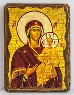 Смоленская Б.М., икона под старину, сургуч (13 Х 17)