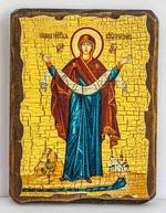 Покров Б.М., икона под старину, сургуч (13 Х 17)