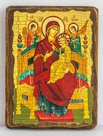 Всецарица Б.М.(светлый фон), икона под старину, сургуч (13 Х 17)