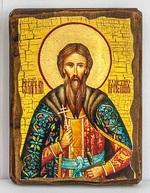 Вячеслав Чешский, икона под старину, сургуч (13 Х 17)