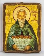 Стилиан Пафлагонянин, икона под старину, сургуч (13 Х 17)