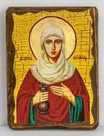 Иоанна Мироносица,Св.Праведная, икона под старину, сургуч (13 Х 17)