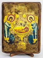 Агнец Божий, икона под старину, сургуч (13 Х 17)