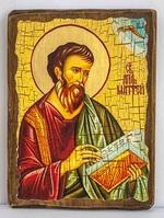 Апостол Матфей, икона под старину, сургуч (17 Х 23)