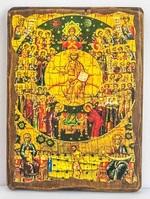 Собор всех святых, икона под старину, сургуч (17 Х 23)