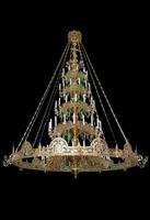 Паникадило К-У-05-76(№ 59), 5-ярусное (76 свечей) с хоросом на 12 свечей.