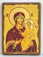 Смоленская Б.М., икона под старину, сургуч (17 Х 23)