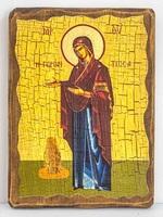 Геронтисса Б.М., икона под старину, сургуч (17 Х 23)