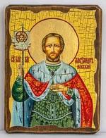 Александр Невский (пояс), икона под старину, сургуч (17 Х 23)