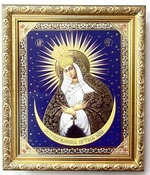 Остробрамская Б.М. Икона в багетной рамке 19 Х 22