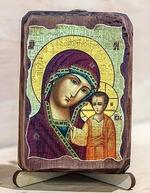 Казанская Б.М., икона под старину, сургуч (8 Х 10)