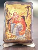 Илья Пророк, икона под старину, сургуч (8 Х 10)