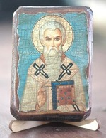 Евгений, Св.Мч., икона под старину, сургуч (8 Х 10)