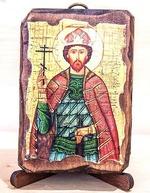 Георгий Владимирский, икона под старину, сургуч (8 Х 10)
