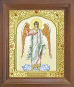Ангел Хранитель (рост). Икона в деревянной рамке с окладом (Д-25псо-06)