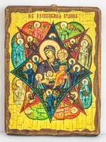 Неопалимая Купина Б.М., икона под старину, сургуч (17 Х 23)